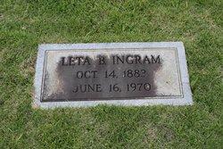 Leta B <i>Batie</i> Ingram