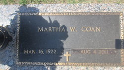 Martha Anita <i>Whitcomb</i> Coan