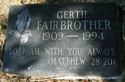 Gertrude Gertie <i>Stouffer</i> Fairbrother