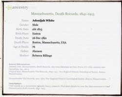 Adonijah White