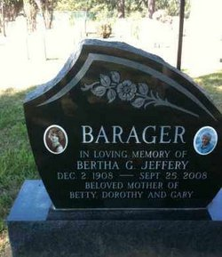 Bertha Gertrude <i>Jeffery</i> Barager