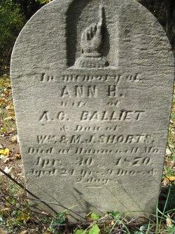 Ann H <i>Shorts</i> Balliet