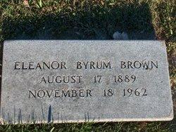 Eleanor <i>Byrum</i> Brown