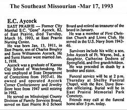 Eugene Carl Gene Aycock