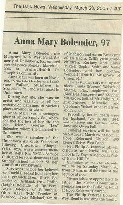Anna <i>Musgrove</i> Bolender