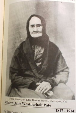 Mildred Jane <i>Weatherholt</i> Pate