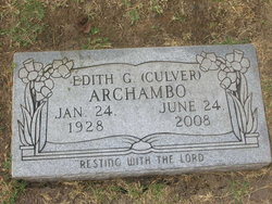 Edith Goldie <i>Culver</i> Archambo