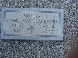 Fannie M <i>Riley</i> Blackmarr