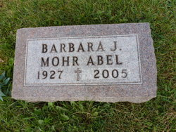 Barbara Jane <i>Mohr</i> Abel