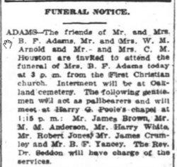 Mrs Benjamin F. Adams