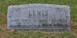 Anne E <i>Whorton</i> Lewis