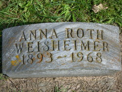 Anna M <i>Roth</i> Weisheimer