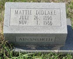 Mattie <i>Didlake</i> Ainsworth