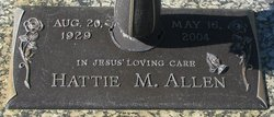 Hattie M Allen