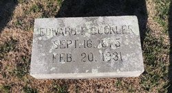 Edward Fermont Eddiemont Buckler, Sr