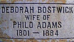 Deborah <i>Bostwick</i> Adams