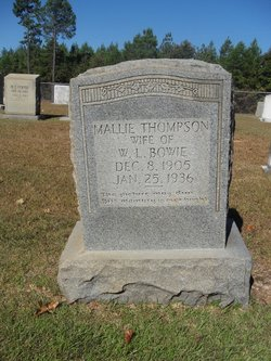 Mallie <i>Thompson</i> Bowie