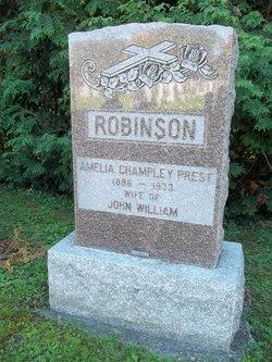 Amelia Champley Millie <i>Prest</i> Robinson