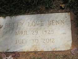 Betty <i>Love</i> Benn