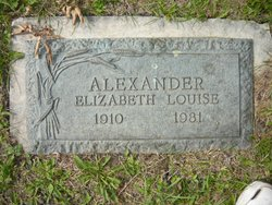 Elizabeth Louise <i>Irvine</i> Alexander