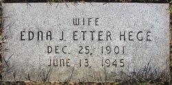 Edna Jane <i>Etter</i> Hege