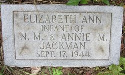 Elizabeth Ann Jackman
