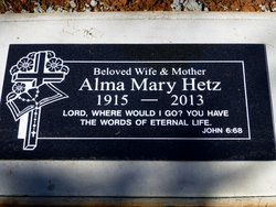Alma Mary <i>Kline</i> Hetz