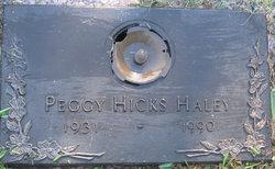 Peggy <i>Hicks</i> Haley