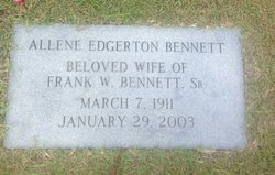 Allene <i>Edgerton</i> Bennett