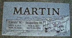 Jacqueline M Martin