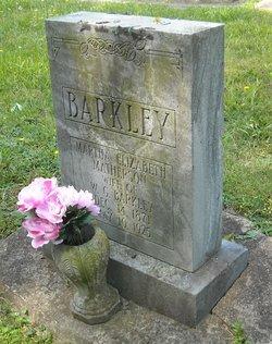 Martha Elizabeth <i>Matheson</i> Barkley