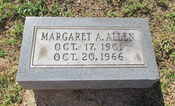 Margaret Ann Aunt Maggie <i>Jones</i> Allen