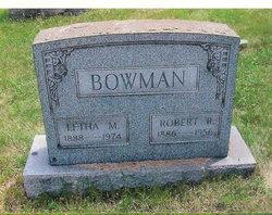 Letha M <i>Gilkey</i> Bowman