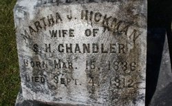 Martha Jane <i>Hickman</i> Chandler