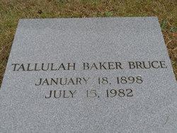 Tallulah <i>Baker</i> Bruce