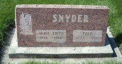 Alice Edith <i>Kreps</i> Snyder