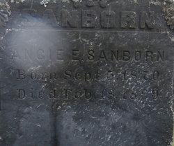 Angie E <i>Ackley</i> Sanborn