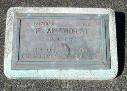 Sgt Frank Ainsworth