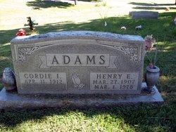 Cordie I. <i>Bryant</i> Adams