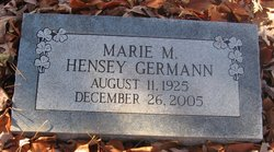 Marie Margaret <i>Hensey</i> Germann