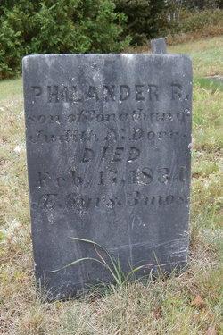 Philander R Dorr
