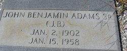 John Benjamin Adams, Sr