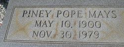 Piney <i>Pope</i> Mays