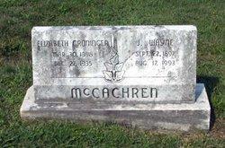 Elizabeth Matilda <i>Groninger</i> McCachren