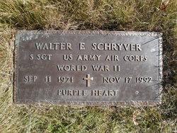 Sgt Walter E. Wally Schryver, Jr