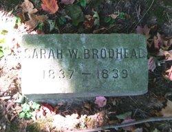 Sarah W Brodhead