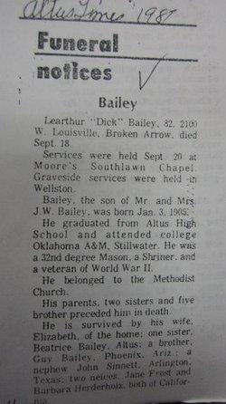 Learthur Dick Bailey