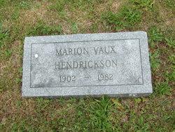 Marion <i>Vaux</i> Hendrickson