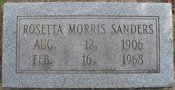 Roseta <i>Morris</i> Sanders
