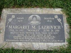 Margaret M Lazrovich